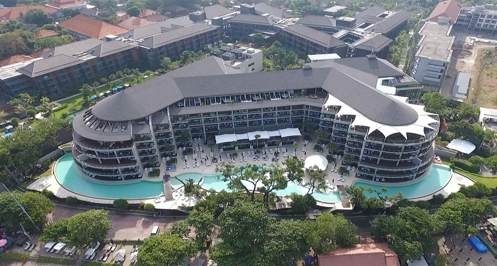 DOUBLE SIX LUXURY HOTEL SEMINYAK aerial view