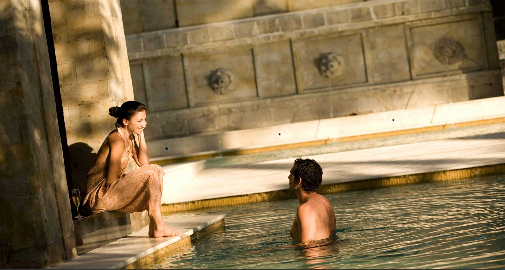 INTERCONTINENTAL BALI RESORT couple by pool