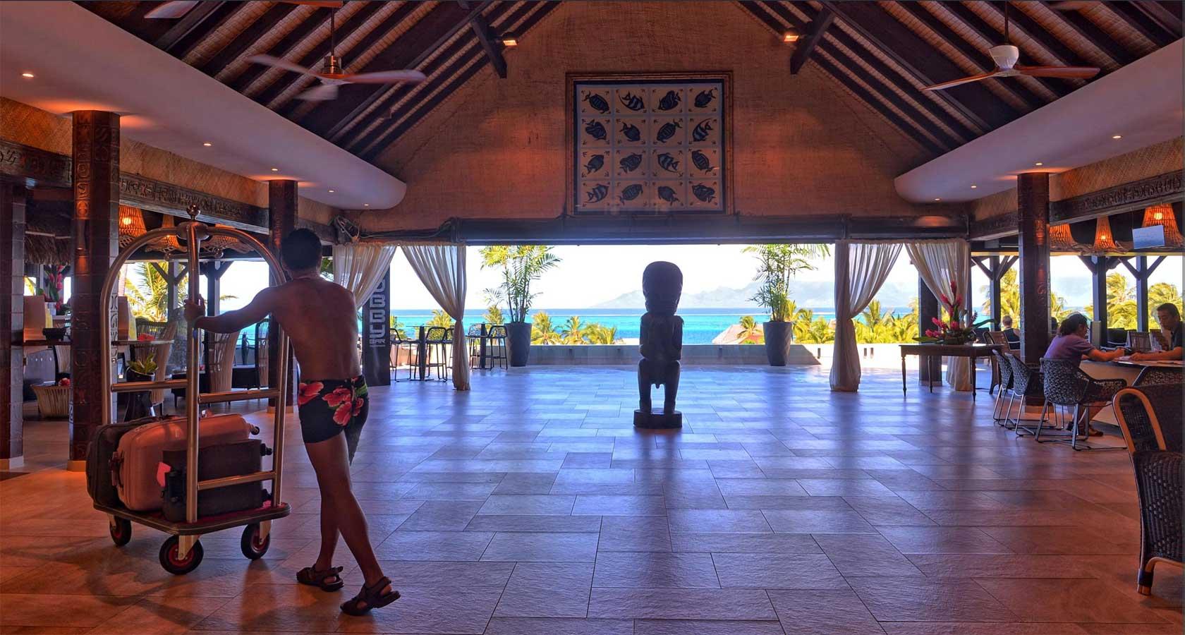 INTERCONTINENTAL RESORT TAHITI lobby area al fresco with ocean views