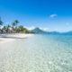 SUGAR BEACH RESORT MAURITIUS beach and ocean view with palm trees