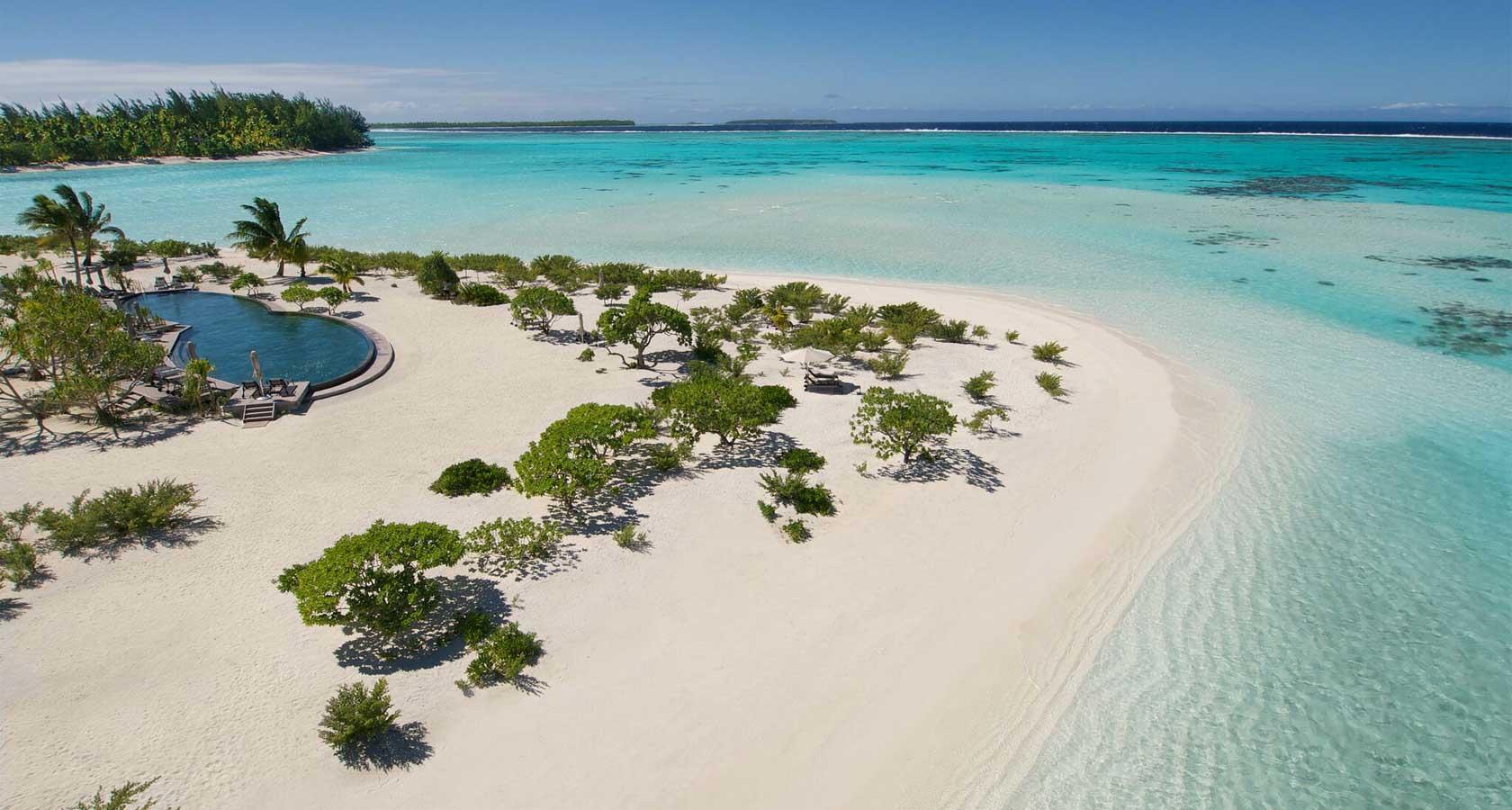 THE BRANDO Tahiti swimming pool and ocean views