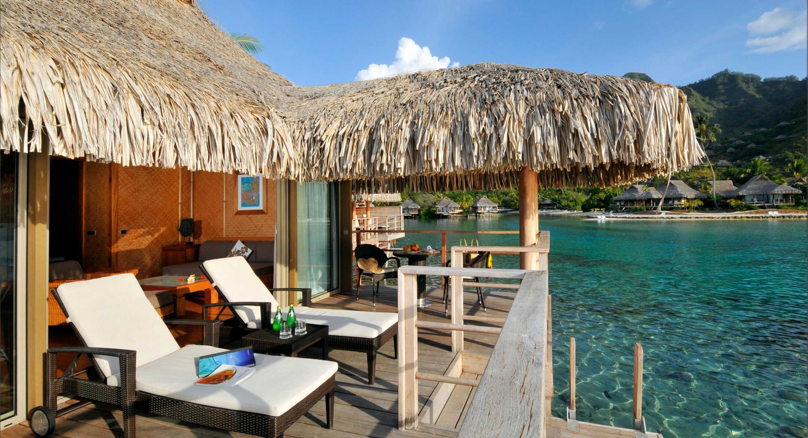 INTERCONTINENTAL MOOREA Honeymoon combo package overwater villa deck
